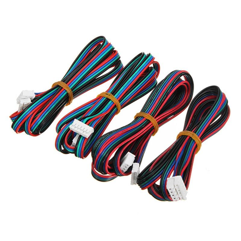 4 шт., кабель шагового двигателя для 3D-принтера NEMA 17, 100/200/300 см