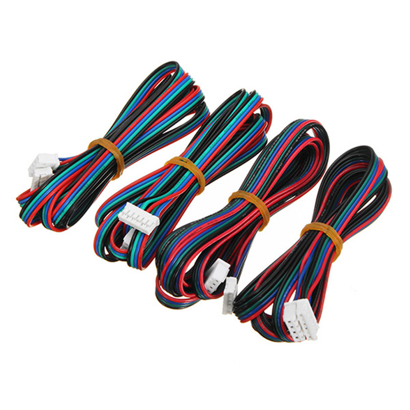 4pcs 100cm/200/300cm 4pin To 6pin XH2.54 3D Printer NEMA 17 Stepper Motor Cable DuPont Line For 42 Stepper Motor
