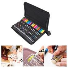 Двухрядные Контурные ручки 21 цвет контурные металлические маркеры