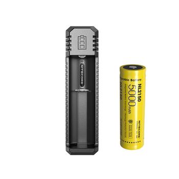 NITECORE UI1 ładowarka USB Li-ion IMR 21700 ładowarka + akumulator litowo-jonowy NITECORE 21700 NL2150 5000mAh 3 6V 18Wh tanie i dobre opinie CCC CE RoHS batteries charger