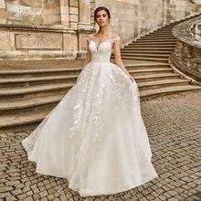 Свадебное платье с рукавом крылышком traucel элегантное кружевное