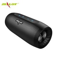 ZEALOT S16 Bluetooth Speaker Portable Wireless Speaker Column Bass Subwoofer Speaker with Mic Support TWS,TF Card,AUX,Power Bank