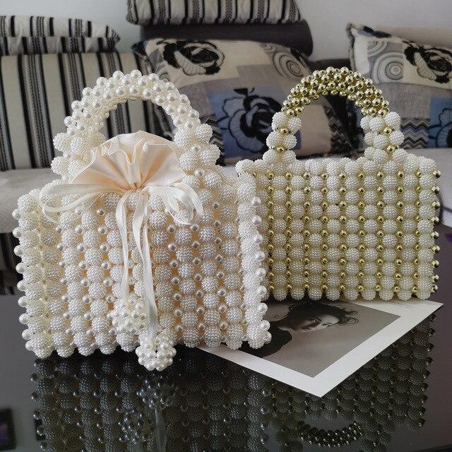 Pearl Beaded Women's Mini Handbag  6