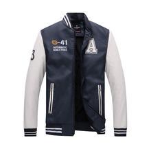 Coat Jacket Jaquetas-De-Motocicleta Bomber Faux-Leather Mens Stand K362 Slim-Fit Zipper