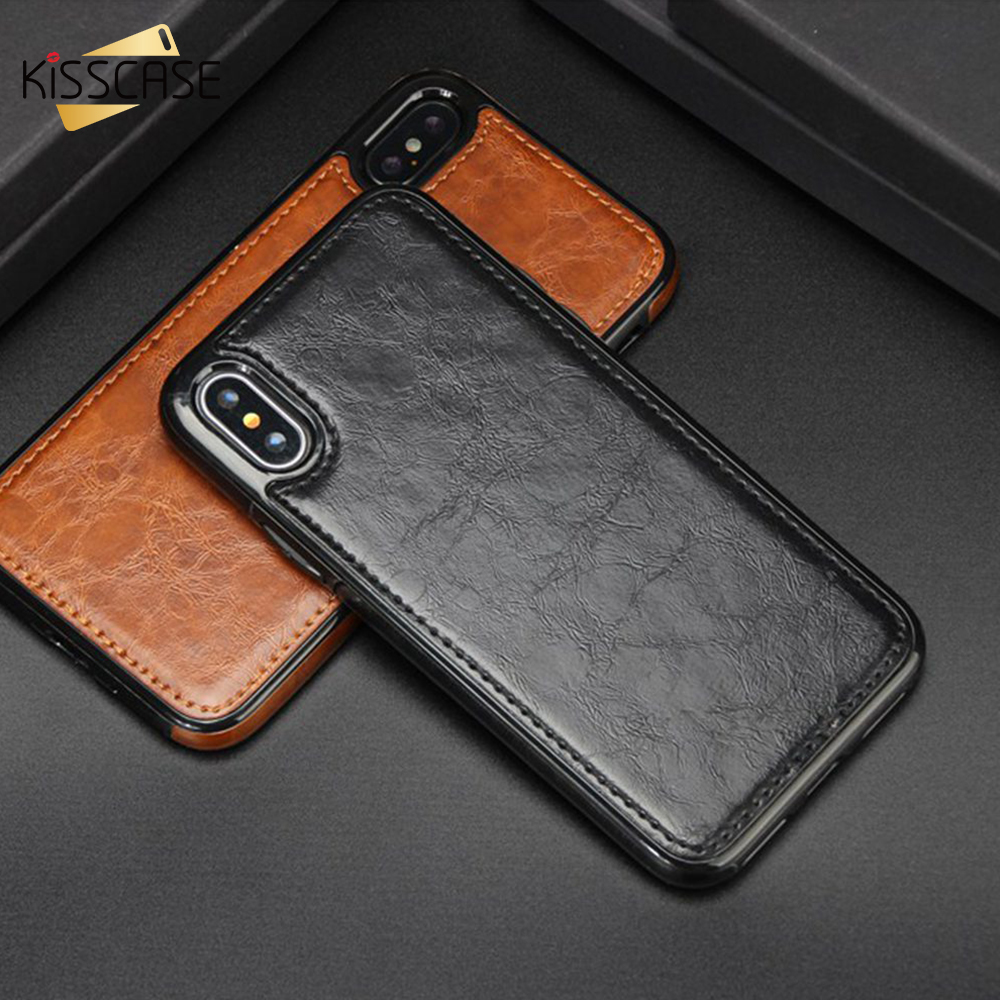 KISSCASE <font><b>Magnetic</b></font> Leather <font><b>Case</b></font> For <font><b>iPhone</b></font> 6s 6 7 <font><b>8</b></font> Plus 5s 5 SE Luxury Vintage Phone <font><b>Case</b></font> For <font><b>Iphone</b></font> X 10 XS Max XR Cover Fundas image