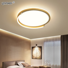 Modern LED Ceiling Lights For Study Living Room Bedroom Round Frame Gold Lamps Home Fixtures lustre Lighting AC90-260V QIYIMEI(China)