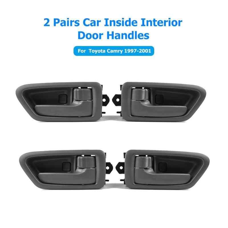 2 זוגות מכירה לוהטת פנים דלת ידיות ללבוש עמיד רכב בתוך שמאל + ימין דלת ידיות החלפת 69205-AA010/69206-AA010