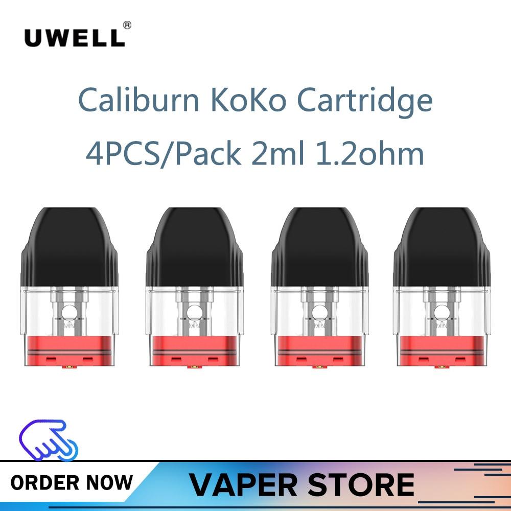 Pre-order 4PCS/Pack Uwell Caliburn KoKo Cartridge 2ml 1.2ohm Fit Caliburn KoKo KIT Electronic Cigarette Pod Cartridge