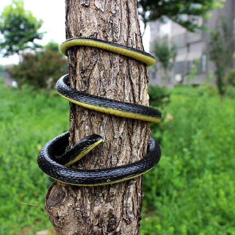 Simulation Rubber Soft Snake Prank Joke Funny Toy Garden Props  Antistress Horror Fake Snake Kid's Gift