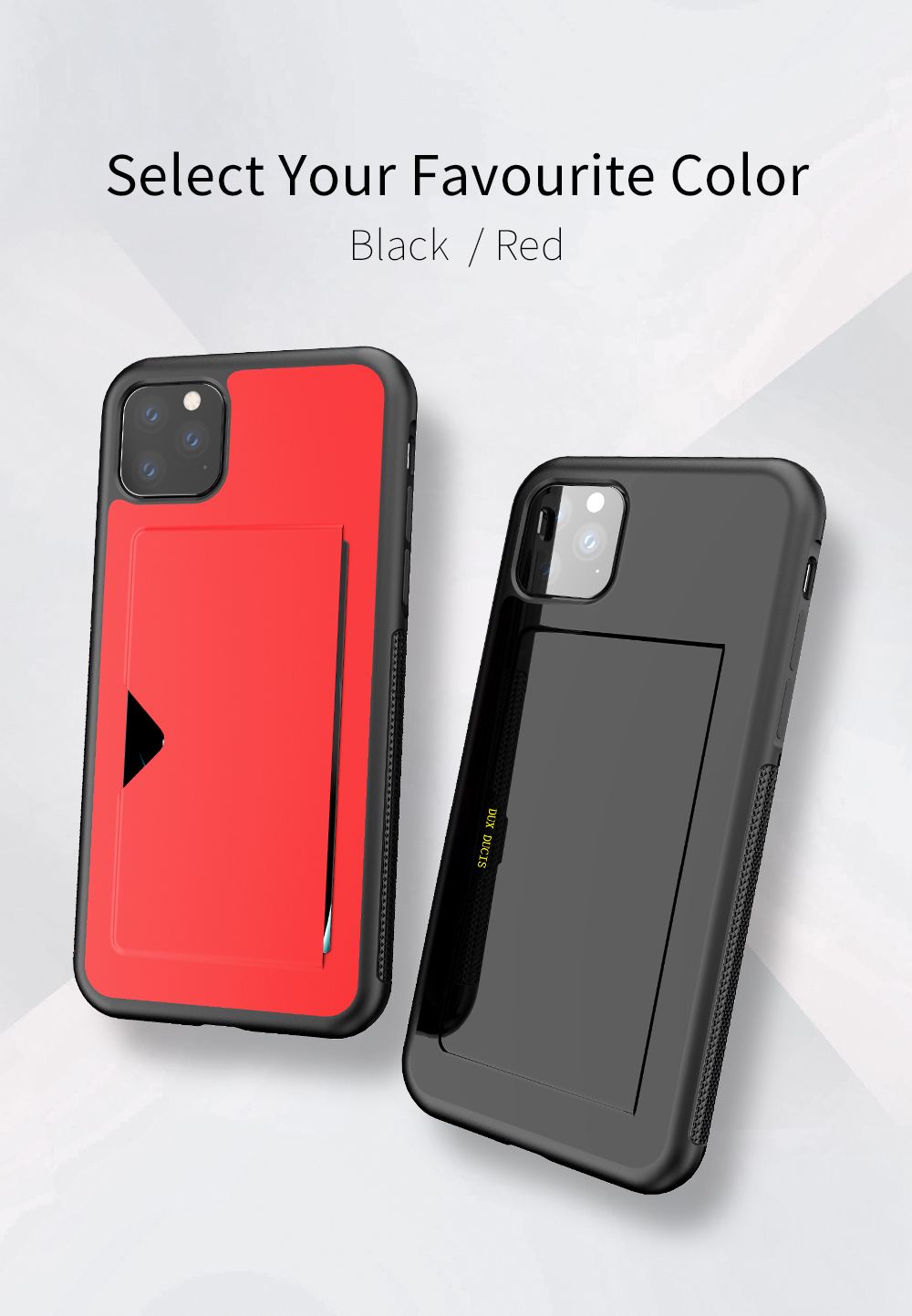 Chirm Card Pocket Case for iPhone 11/11 Pro/11 Pro Max 13