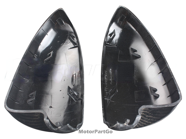 Real Crabon Fiber Mirror Cover Exchange original 1 pair for  Smart fortwo W451 2009-2013 5