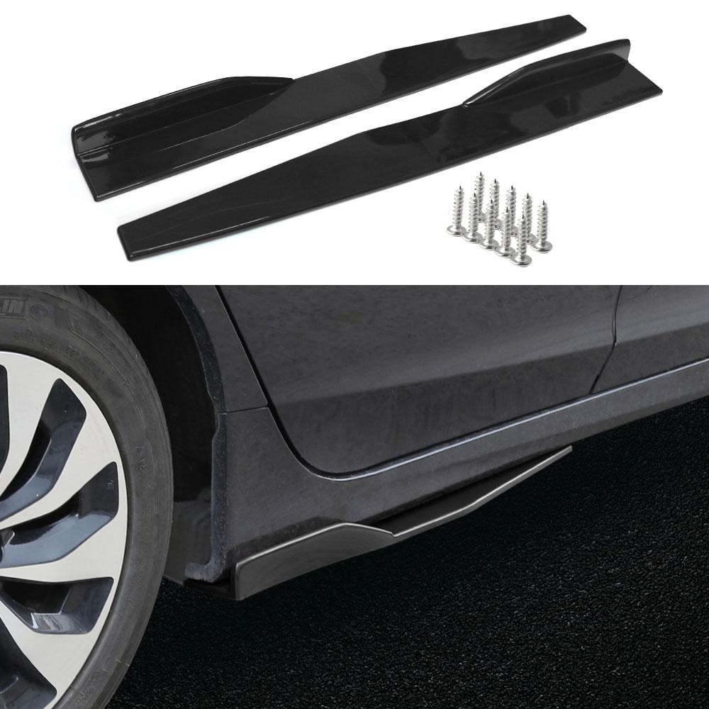 74.5cm רכב צד חצאית נדנדה מפצלי נפון כנפי מפזר אוניברסלי רכב גוף צד חצאיות רכב אבזר
