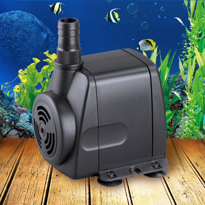 220V Submersible Water Pump Hydroponic For Aquarium Rockery Fountain Fish Pond Tank 8W 600L/H
