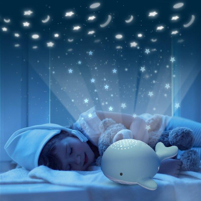 Beiens veilleuses pour enfant étoile ciel projecteur jouet bébé Musical Mobile lumière USB charge Bluetooth télécommande noël