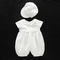 Newborn Baby Boy Toddler Clothing Christening Baptism Jump Suit & Bonnet Costuem 3M 6M 12M 18M 24M