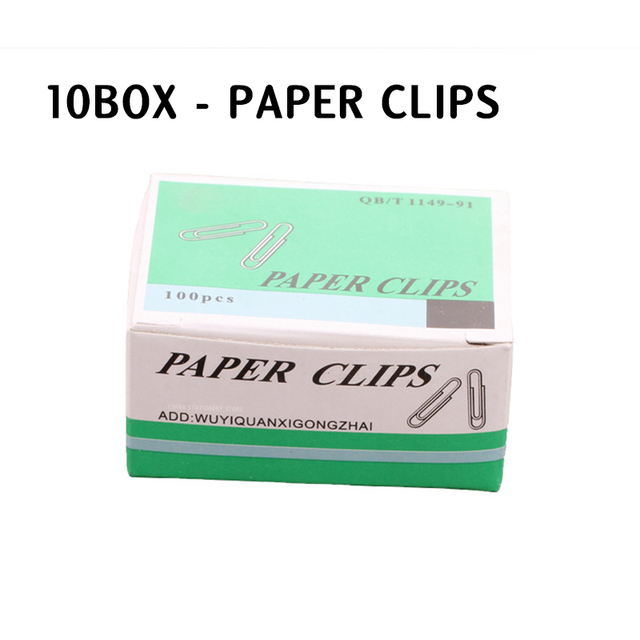 10box Paper Clips Office Supplies Paper Clips Retro Pin Binding Stationery