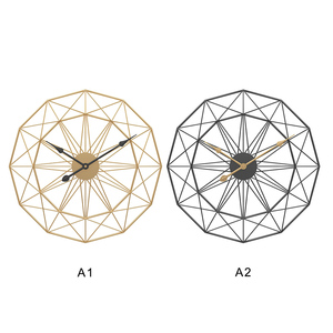 Image 5 - 1PC 60cm Retro Nordic Type Mute Hanger Clocks Iron Art Large Silent Hanging Wall Clock Home Living Room Bedroom Decor New