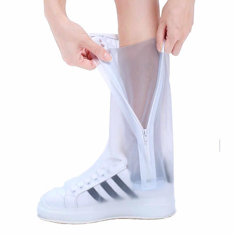 Yüksek kaliteli su geçirmez erkek kadın ayakkabı koruyucu su geçirmez kaymaz kullanımlık ayakkabı koruyucu s kalın anti-kirli yüksek yağmur çizmeleri