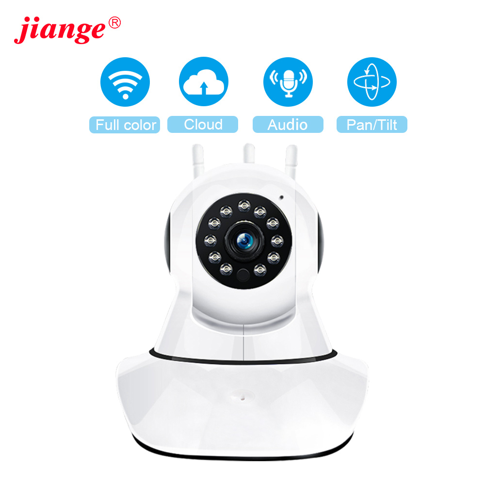 Jiange Ip Camera 1080p Wireless Samrt Mini PTZ Audio Video Camara  CCTV Wifi Night Vision IR Baby Monitor Ycc365plus