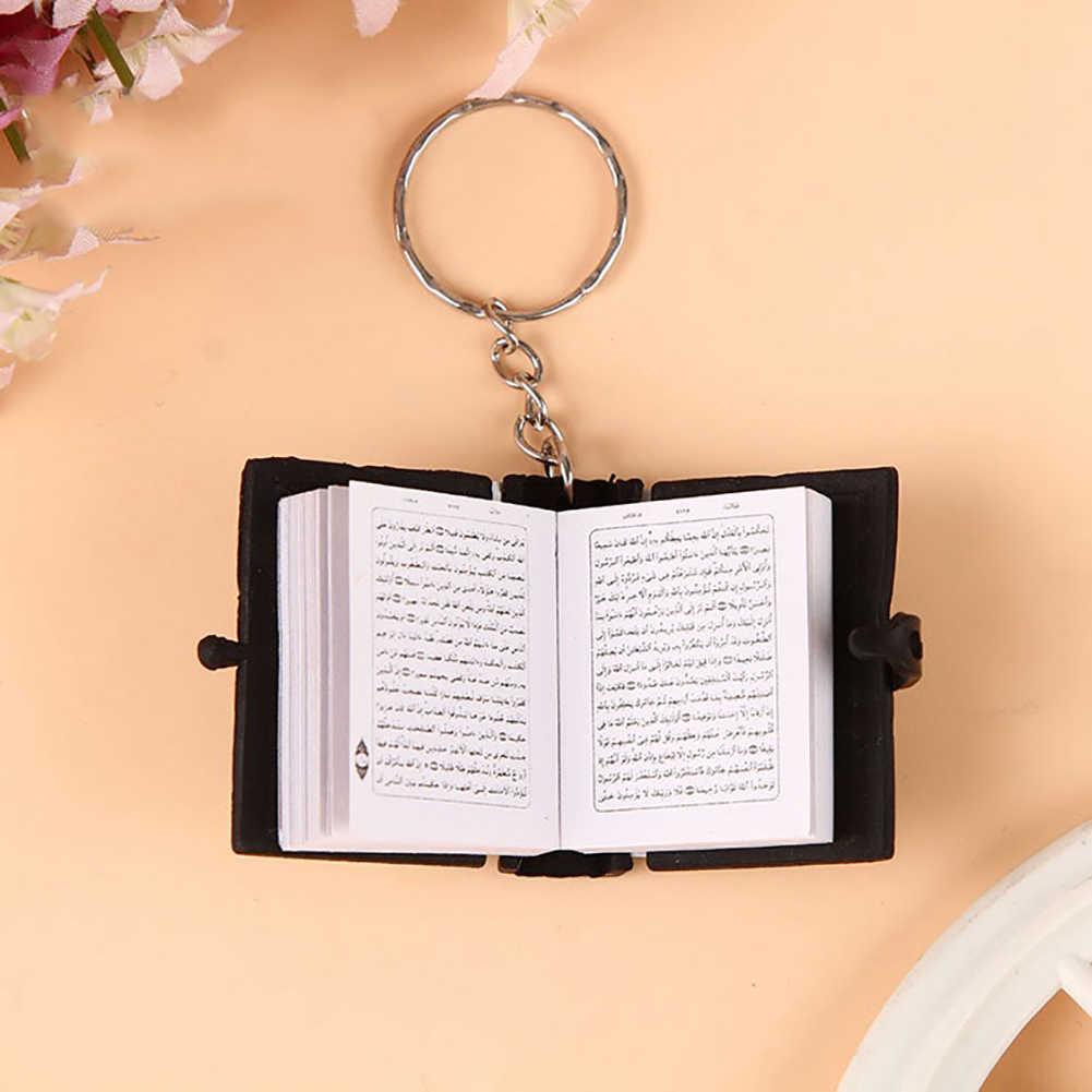 Unisex Mini Kinh Qur'an Tiếng Ả Rập Mặt Dây Chuyền Móc Khóa Túi Treo Xe Ô Tô Móc Khóa Quà Sinh Nhật Tặng Móc Khóa Treo Phụ Kiện Túi Accessorie