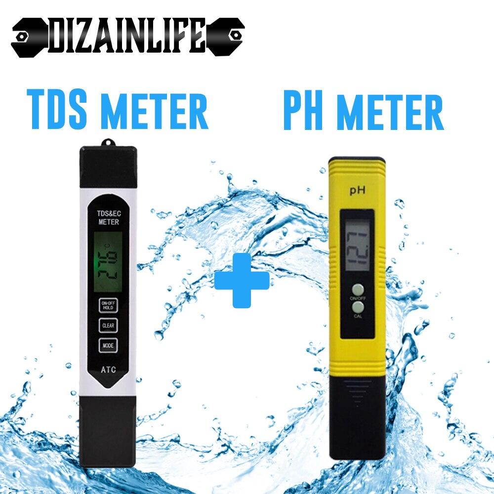 Портативный PH-метр с ЖК-дисплеем 0,01 + TDS EC, тестер чистоты воды в виде ручки, фильтр PPM для гидропоники для аквариума, бассейна, воды, вина, инст...