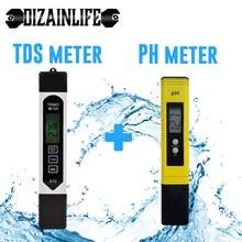 Tragbare LCD Digital PH-Meter 0.01 + TDS EC Tester Stift Wasser Reinheit PPM Filter Hydrokultur für Aquarium Pool Wasser wein Test Werkzeug