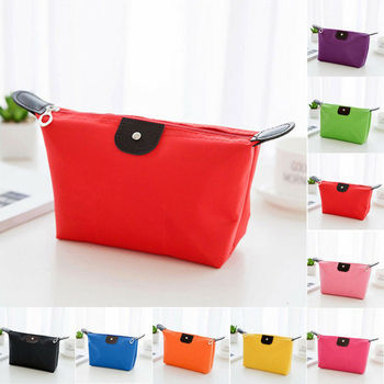 Fashionable and simple cosmetic bag Waterproof stationery storage bag Zero Hand bag travel makeup bag cosmetic bag women