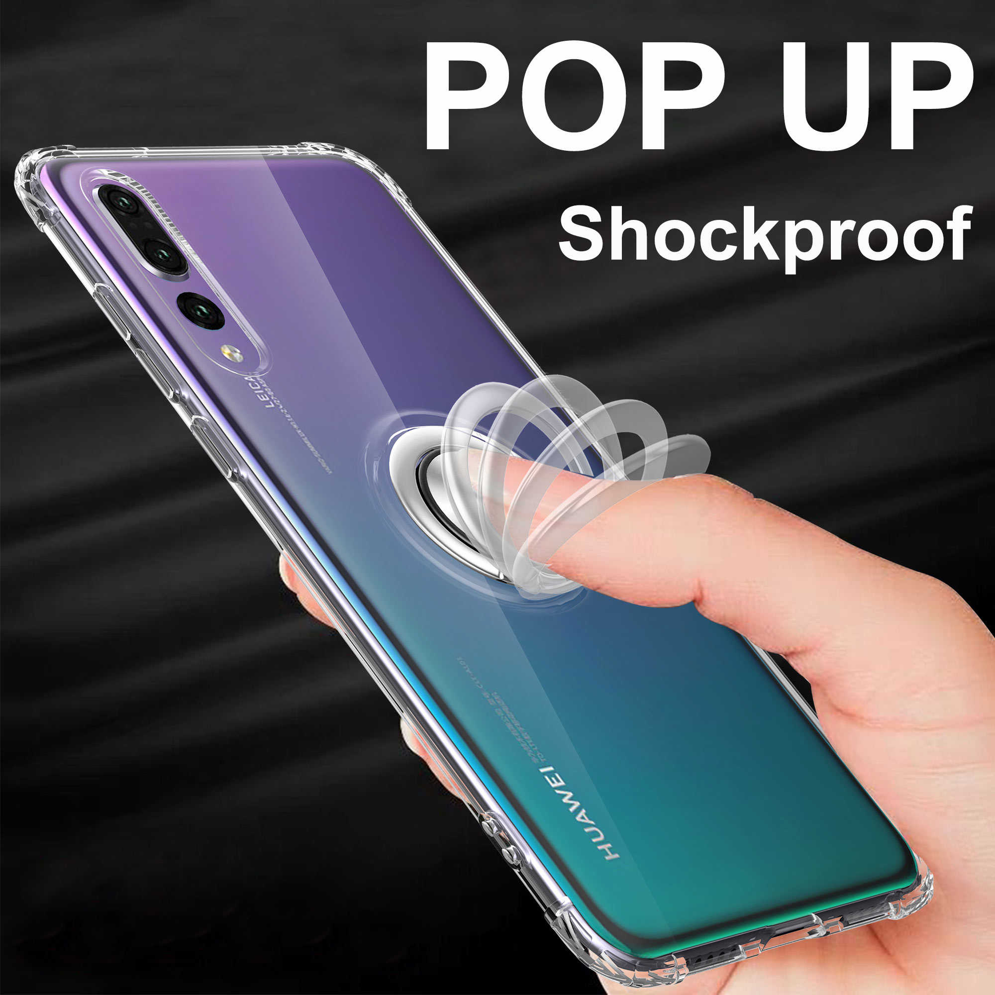 Ring Magnetic Case for Honor 10 Lite 8x Cases for Huawei P Smart 2019 Case Transparent P30 Pro P20 View 20 Nova 4 Mate 20 Case