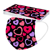 10pcs lovely mouth cap print dispo