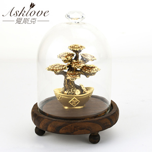 Wealth Luck FengShui Lucky Money Tree 24k Gold foil Ornaments Gold Fortune tree Table Office Decor Home Decoration Gifts craft(China)