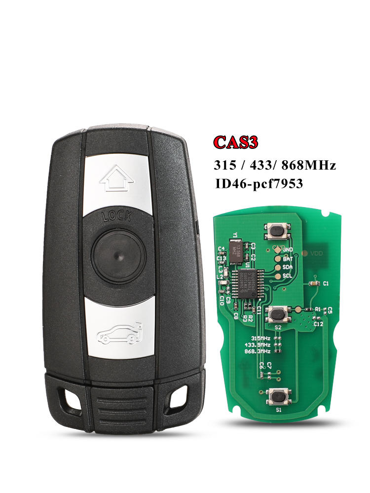 Smart-Key Chip Keyless-Control-Transmitter Car Remote Cas3x5 Jingyuqin BMW for 1/3/5/7-series