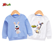 toddler girl sweatshirt children Sweatshirts funny raving rabbids kids 2019 autumn baby streetwear Pullover