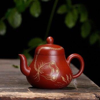 140ml Dahongpao ni yixing teapot handmade zisha pot Kungfu tea kettle