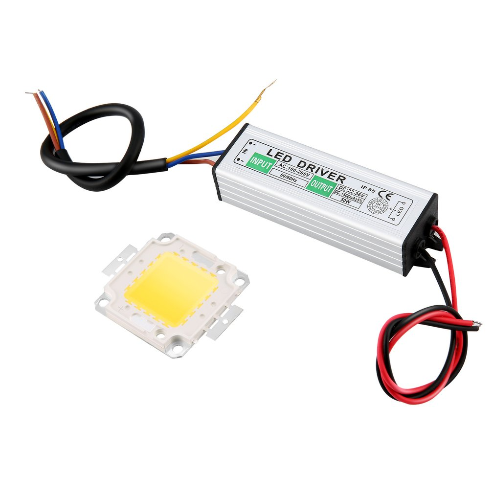 50W LED SMD Chip Bulbs With High Power Waterproof 50W LED Driver Supply Power Supply Switch For LED Strip Lights