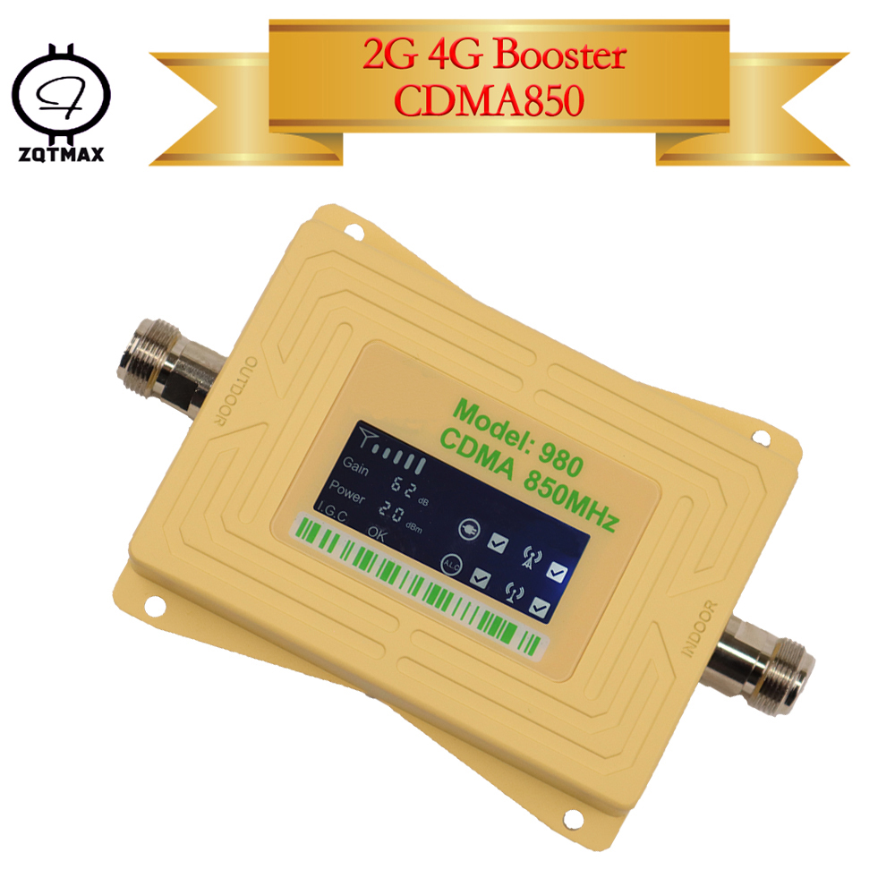 ZQTMAX Gsm Mobile Signal Booster 2g 4g Repeater LTE Cellular Amplifier B5 Band CDMA 850MHz