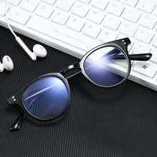 MARC Womens Anti Blue Lights Eyeglasses Round Clear Lens Computer Glasses For Ladies Cat eye Optical Spectacle Frame Oculos2129
