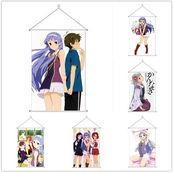 Kannagi Crazy Shrine Maidens Nagi Zange Aoba Alloy Fabric Wall Poster Scroll 60x90cm 24x36inches image