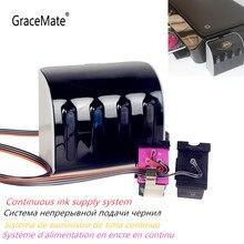 GraceMate CISS 302 Ersatz für HP 302 Kompatibel für HP Deskjet 2130 2135 1110 3630 3632 Officejet 3830 3834 4650 5232 5220