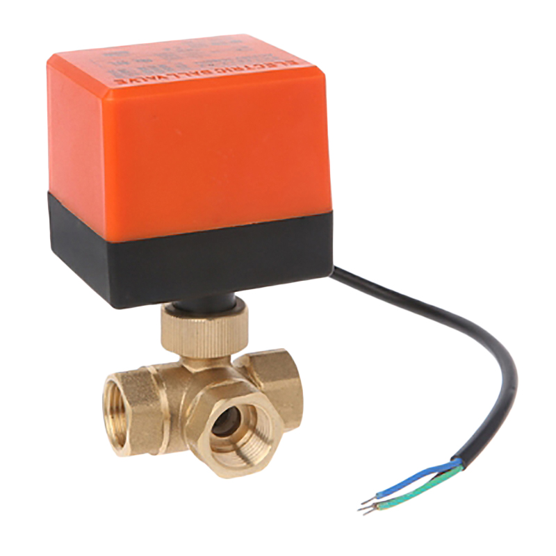 AC220V 3 Way 3 Wire 2 Control Motorized Ball Valve Electric Actuator