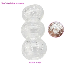 Transparent Vagina Sex Toys for Men Realistic Anal Penis Trainer Tube Sleeve Male Masturbator Soft Pussy Adult Exercise
