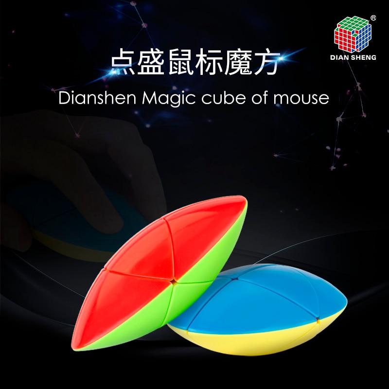 Newest DianSheng Magic Cube Of Mouse Strange Shape Speed Magic Puzzle Twisty Brain Teasers Educational Learnning Toys