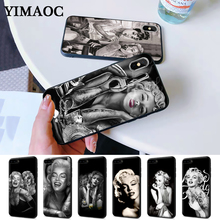 Marilyn Monroe tattoo Silicone Case for iPhone 5 5S 6 6S Plus 7 8 11 Pro X XS Max XR