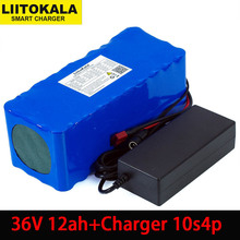 Liitokala 36V 12Ah 18650 akumulator litowy o dużej mocy 12000mAh motocykl elektryczny samochód skuter rowerowy z BMS + 2A ładowarka