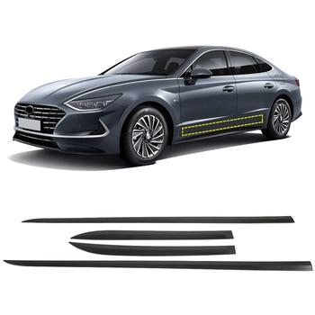 Car Styling Accessories 4PCS ABS Carbon Fiber Side Door Car Body Molding Cover Trim For Hyundai Sonata 2020