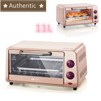220V 10L Multifunctional Microwave Ovens automatic mini oven electric oven for Home baking Free temperature control 800W pink