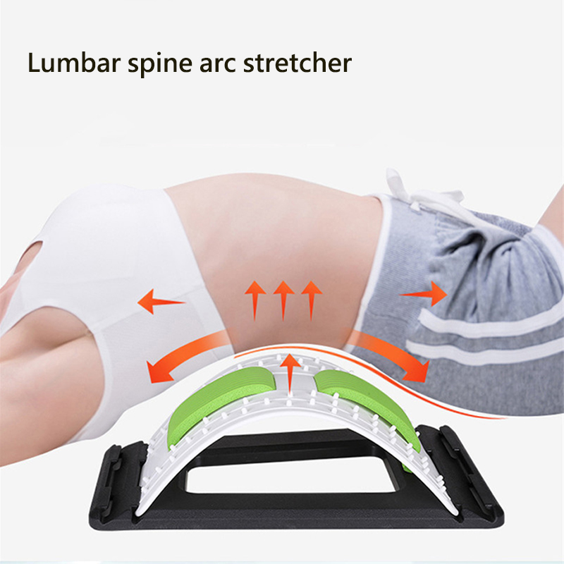 Comfortable Back Massage Stretcher Stretch Equipment Device Waist Neck Relax Pain Relief Chiropractic Fitness Lumbar Support