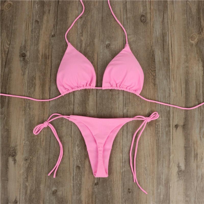 Сексуальный женский бикини бразильский купальный костюм пуш-ап бюстгальтер бикини комплект из двух частей купальный костюм Одежда для куп... 21