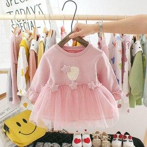 Oeak Autumn Newborn Baby Girls Dress For Girl 1 Year Birthday tutu Dress Princess Baby Dress Infant Clothing Set Toddler Dresses(China)