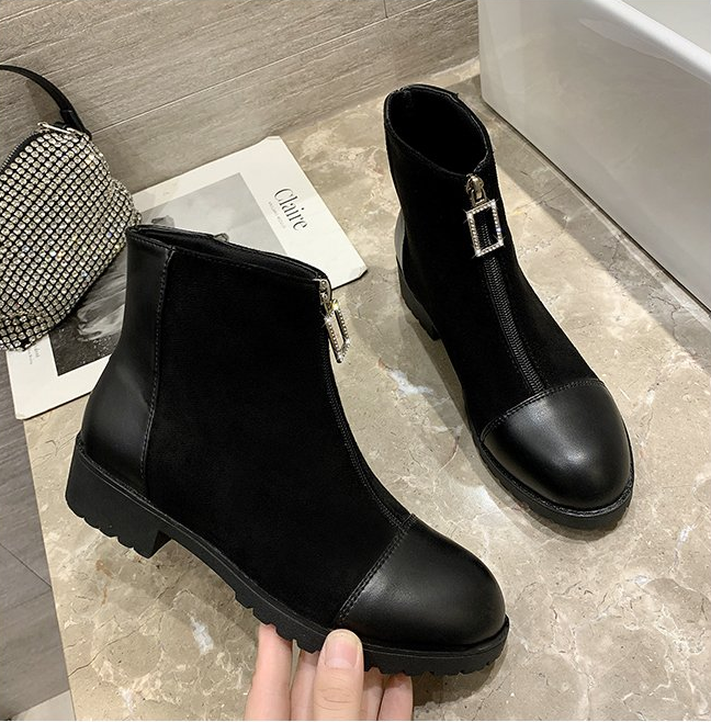 2020 New Autumn and Winter Plus Velvet Women Ankle Short Boot Thin Ladies Boots Breathable Women Boots Thicken Botas Mujer 35-43