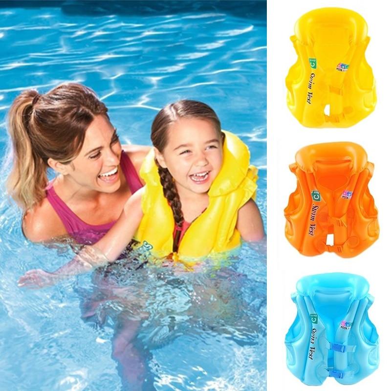 Kids Child Swim Vest Swimming Pool Aid Safety Life Jacket Inflatable Sail Float